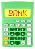 Calculator With Bank On Display