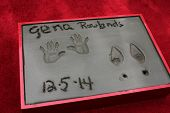 LOS ANGELES - DEC 5:  Gena Rowlands  prints at the Gena Rowlands Hand and Foot Print Ceremony at the TCL Chinese Theater on December 5, 2014 in Los Angeles, CA