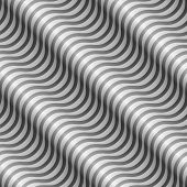 Abstract black and white diagonal wavy stripes vector pattern.