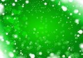 green snow light background