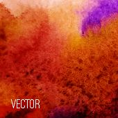 Vector abstract watercolor background. Orange background. Design