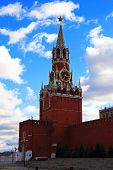 Spasskaya Tower And St Basils Cathedral Red Square Moscow