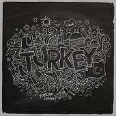 Turkey chalkboard background