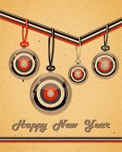 Retro greeting card with decoration.