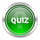 quiz icon, green button