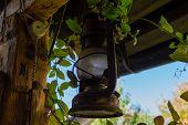 An old rusty lantern