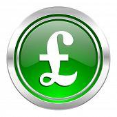 pound icon, green button