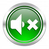 speaker volume icon, green button, music sign