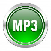 mp3 icon, green button