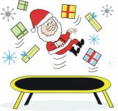 Santa trampoline cartoon