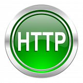 http icon, green button