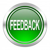 feedback icon, green button