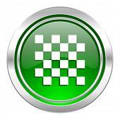 chess icon, green button