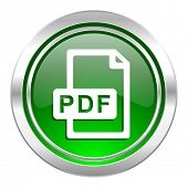 pdf file icon, green button
