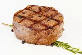 Juicy Grilled Beefsteak With Herb