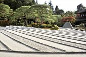 Zen Garden With Sand Tower