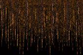 Digital Abstract Background, Orange Golden Matrix