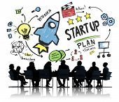 Start Up Business Launch Success Business Meeting Concept