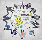 Teamwork Team Together Collaboration Business People Unity Concept