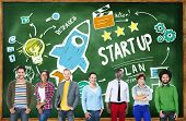 Start Up Business Launch Success Students Education Concept