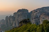 Sunset In Meteora, Greece
