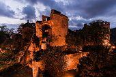 Heidelberg's castle at dusk