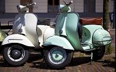 image of vespa  - two old vespa - JPG