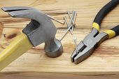 Hammer, Nails And Plier
