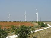 Giant Wind Stations In Crimea