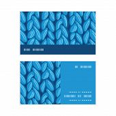 Vector knit sewater fabric horizontal texture horizontal stripe frame pattern business cards set