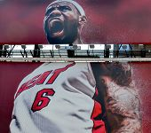 Giant sign of Lebron James