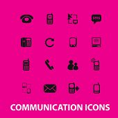 communication, connection icons, signs set, vector