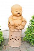 Baby Buddha with prayer beads.
