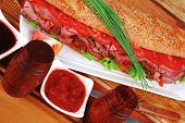 picture of french curves  - sandwich on plate  - JPG