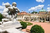 Baroque Castle Buchlovice, Moravia, Czech Republic, Europe