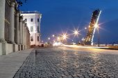 Cobblestones And A Drawbridge In A