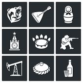 This Is Russia Vector Icons Set