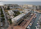 Aerial view of Herzliya Marina, Israel