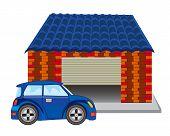 Car near garage