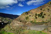 Mountains in La Gomera, Spain, Europe