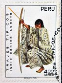 PERU - CIRCA 1972: A Stamp printed in Peru dedicated to costumes and traditional dances of Peru