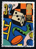 UNITED KINGDOM - CIRCA 1989: A stamp printed in Great Britain dedicated to games and toy