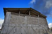 foto of tobacco barn  - Detail of an old tobacco farm facade - JPG