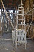 stock photo of tobacco barn  - An old tobacco farm interior in Granada - JPG