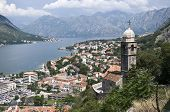 Kotor city and the chuch