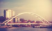 Retro Vintage Filtered Picture Of A Bridge In Kolobrzeg, Poland.