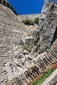 Iin The Courtyard Of Fortresses Guaita On Mount Titan. The Republic Of San Marino