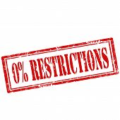 0% Restrictions stamp