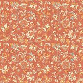 persian carpet floral seamless pattern