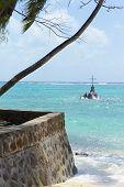 A Cross As A Christian Sanctuary At Sea Off The Seychelle